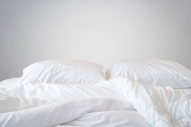 Strip Off The Bedding and Sheets From Your Mattress Right Away.