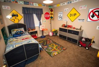 how to create a car themed bedroom for kids